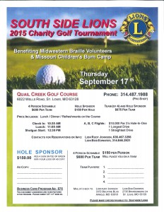 South Side Lions 2015 Charity Golf Tournament