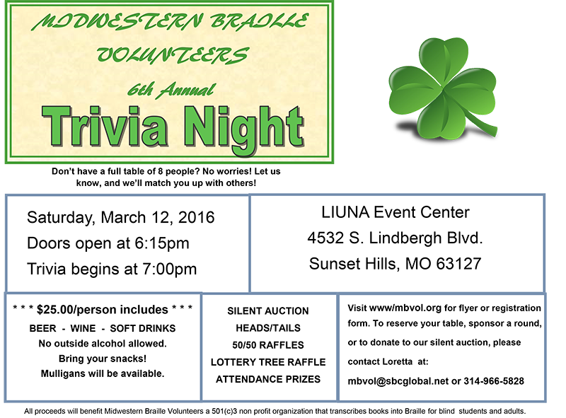 6th Annual Trivia Night